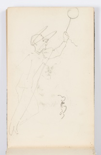 Sketchbook Folio, Sketchbook Page: Man with Balloon
