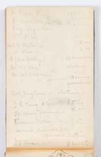Sketchbook Folio, Sketchbook Page: Finances