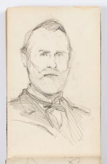 Sketchbook Folio, Sketchbook Page: Man with Beard