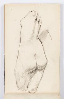 Sketchbook Folio, Sketchbook Page: Classical Statue