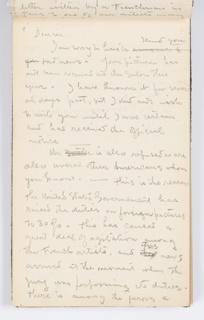 Sketchbook Folio, Sketchbook Page: Letter about Refusal from Salon