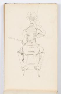 Sketchbook Folio, Sketchbook Page: Artist at Work