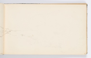 Recto: Sketch of landscape continued from opposite page. Verso: Poem titled Sea Lullaby.
