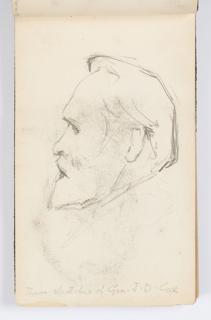 Sketchbook Folio, Sketchbook Page: Man with Beard in Profile