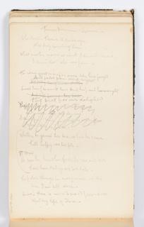 Sketchbook Folio, Sketchbook Page: Femme Inconnue, Louvre (Poem)