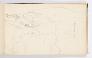 Sketchbook Folio, Sketchbook Page: Hilly Landscape