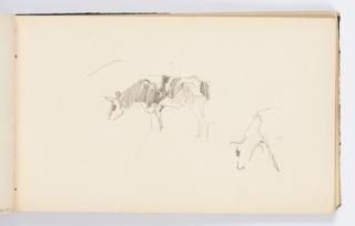 Sketchbook Folio, Sketchbook Page: Cows Grazing