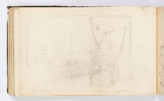 Sketch of a landscape, enframed.