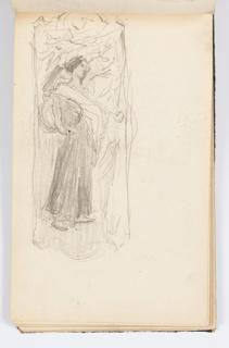 Sketchbook Folio, Sketchbook Page: Standing Figure