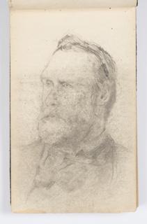 Sketchbook Folio, Sketchbook Page: Portrait of Man with Beard