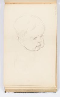 Sketchbook Folio, Sketchbook Page: Baby's Face