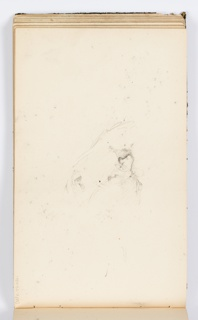 Sketch of a man's face, looking towards the left.