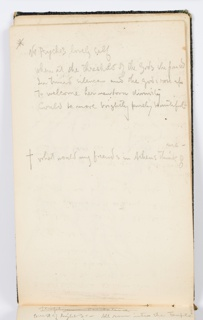Recto: Verse beginning: Not Psyche's lovely self [?]  Verso: Caricature of a man in a hat in profile, facing left.