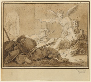 Drawing, Liberation of St. Peter, ca. 1635–1636
