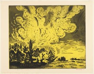 Print, Dark Trees and Golden Cloud, 1967