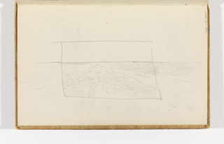 Sketchbook Folio, Cornish Sea Coast and Protruding Cliffs (Recto); Study of Rippling Water (Verso)