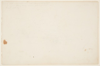 Recto:  Horizontal view of cloud studies with a setting sun surrounded by rays.