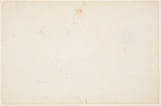 Recto:  Horizontal sheet with cloud studies and a common popular 