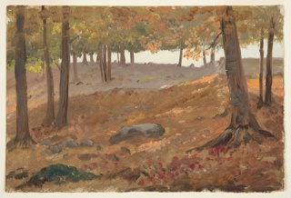 Drawing, Woods in Autumn, 1870–80
