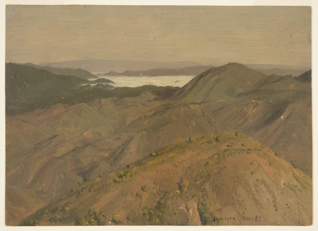 Drawing, Distant View over Hilltops