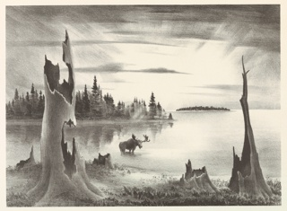 Print, Morning on the Lake