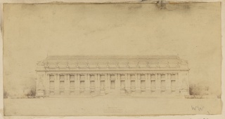 Print, Design for New York Public Library Elevation Fifth Ave.