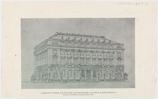 Reproduction, Competitive Design for Building for Department of Justice, Washington, D.C.