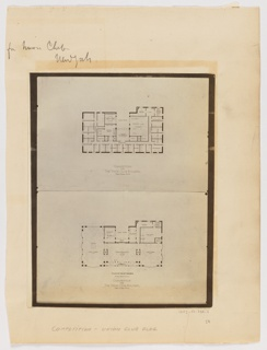 Print, Competition for The Union Club Building, New York City