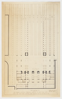 Pfhotostat, Plan at Concourse Level, The Grand Central Terminal Station of New York City