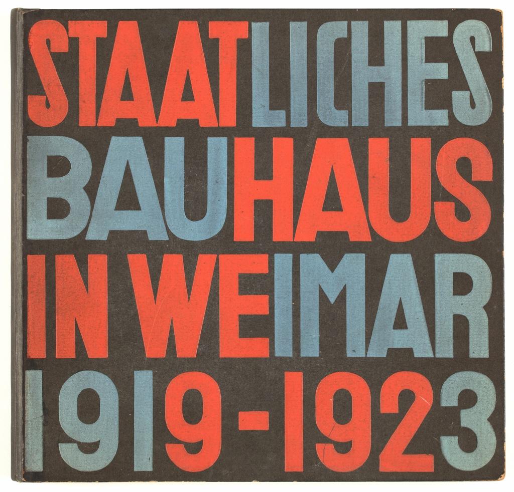 Book Cover, Staatliches Bauhaus (State Bauhaus) in Weimar 1919-1923, 1923