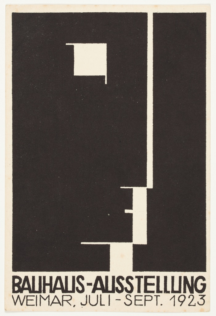 Postcard, Bauhaus Ausstellung Weimar (Bauhaus Exhibition Weimar), 1923