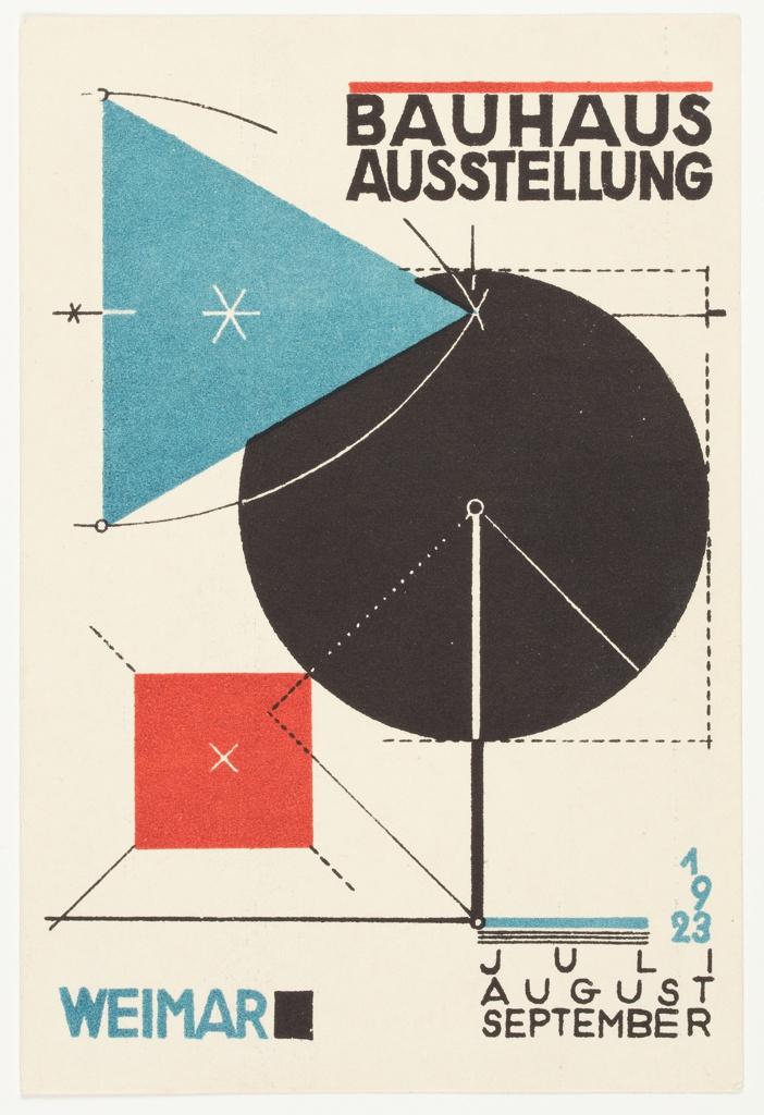 Postcard, Bauhaus Ausstellung Weimar (Bauhaus Exhibition Weimar)