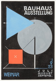 Design For Postcard, Bauhaus Ausstellung Weimar (Bauhaus Exhibition Weimar), 1923