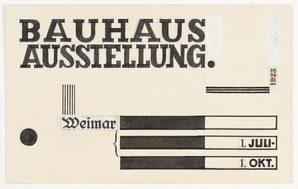 Design For Postcard, Bauhaus Ausstellung Weimar (Bauhaus Exhibition Weimar), 1923