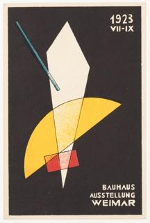 Postcard, 1923 Bauhaus Ausstellung Weimar (1923 Bauhaus Exhibition Weimar), 1923
