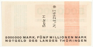 Banknote, 5000000