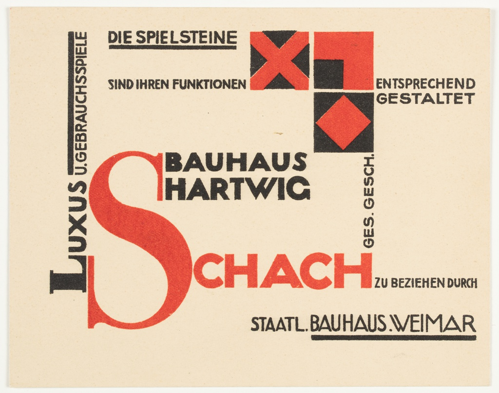 Prospectus, Bauhaus Hartwig Schach (Bauhaus Hartwig Chess), 1924