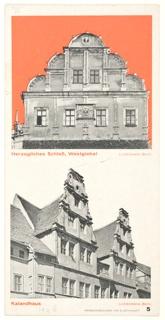 Brochure, Prospekt der Stadt Dessau (City of Dessau Brochure)