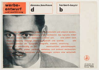 Card, Herbert Bayer, Verband Deutscher Reklamefachleute (Association of German Advertising Professionals), 1928
