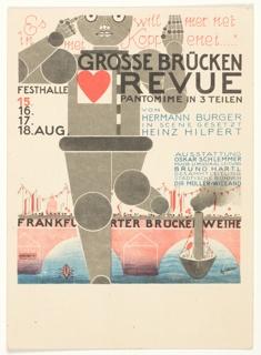 Postcard, Grösse Brücken Revue (Great Bridge Revue), 1926