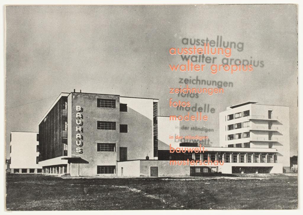 Catalog, Ausstellung Walter Gropius: Zeichnungen, Fotos, Modelle (Walter Gropius Exhibition: Drawings, Photos, Models), 1930