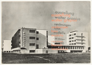 Catalog, Ausstellung Walter Gropius: Zeichnungen, Fotos, Modelle (Walter Gropius Exhibition: Drawings, Photos, Models), 1930
