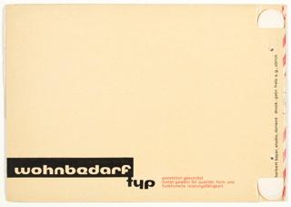Catalog, Katalog Wohnbedarf (Catalog of Goods for the Home)