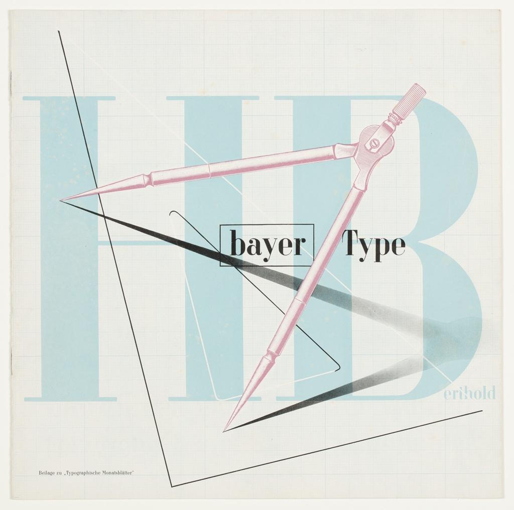 Booklet, Berthold Bayer Type: Beilage zu (Supplement to) Typographische Monatsblaetter Magazine, 1936