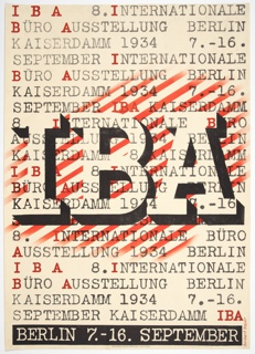Poster, IBA International Büro Ausstellung (IBA International Office Exhibition), 1934