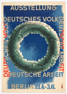 Poster, Ausstellung Deutsches Volk (Exhibition of the Germanic People), 1933