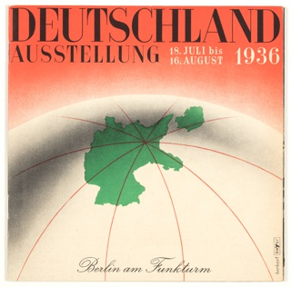 Booklet, Deutschland Ausstellung (Germany Exhibition): Gebrauchsgraphik International Advertising Art Magazine, 1936