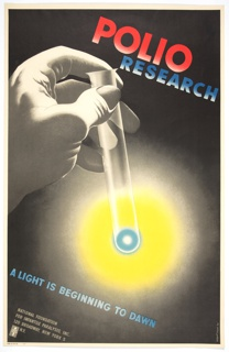 Poster, Polio Research: A Light Is Beginning to Dawn, 1949