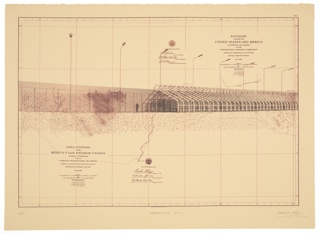 Print, Greenhouse Wall/Muro de Invernadero, from the project Borderwall as Architecture