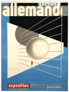 Poster, Section Allemande (German Section), Exposition de la Société des Artistes Décorateurs (Exhibition of the Society of Decorative Arts), Grand Palais